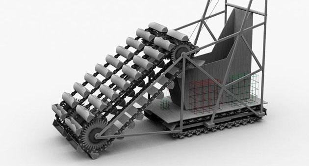 Lunar Excavator Robot