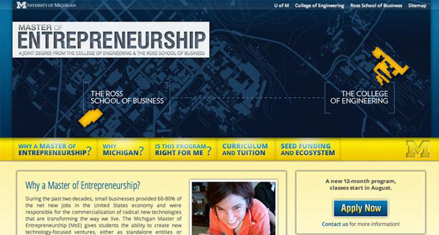 Center for Entrepreneurship Website