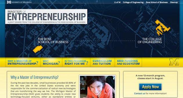 Center for Entrepreneurship Website