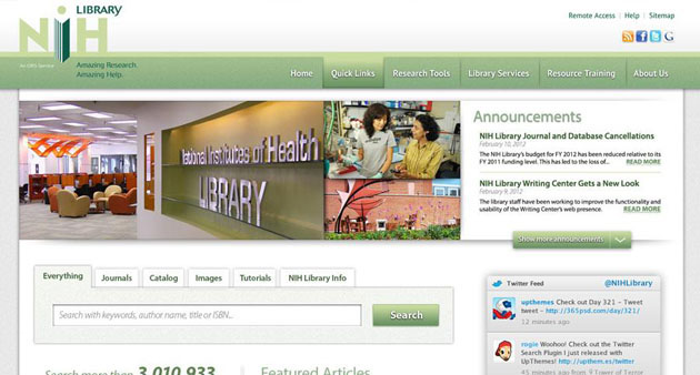 NIH Library Website